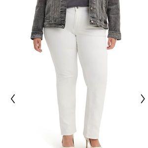 Levi's 414 classic straight leg jeans white 20W